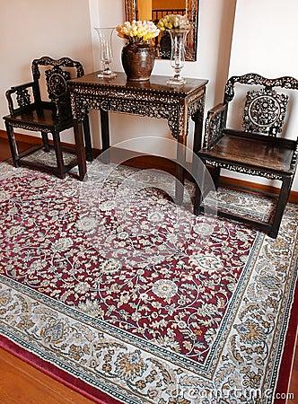 Free Luxury Oriental Carpet & Ethnic Decor Stock Photography - 27043332