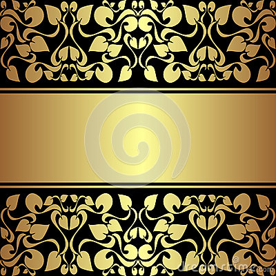 Luxury ornamental Background with golden ribbon.