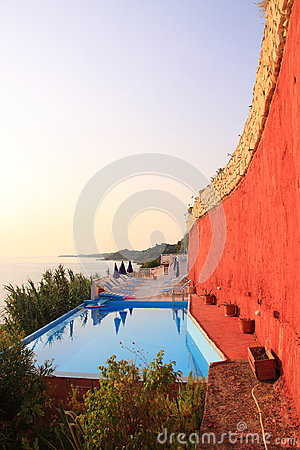 Luxury pool along the coast on Zakynthos Island - Greece