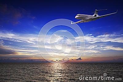 Luxury private jet