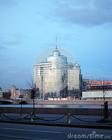 Luxury residential complex  Aurora , Saint-Petersburg Editorial Stock Photo
