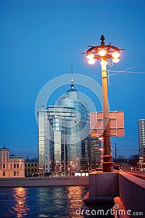 Luxury residential complex  Aurora , Saint-Petersburg Editorial Stock Image