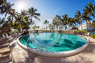 Luxury resort pool