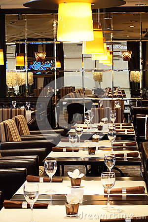 Luxury restaurant in european style