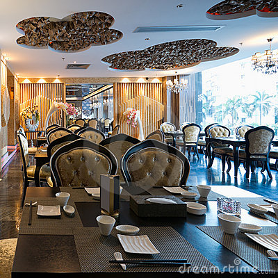 Luxury restaurant interior