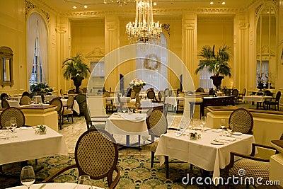 Luxury restaurant interiors
