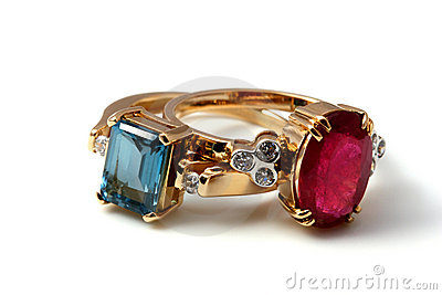 Luxury rings topaz pair