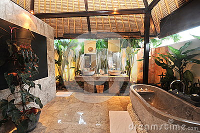 Luxury Room bathroom in a tropical villa