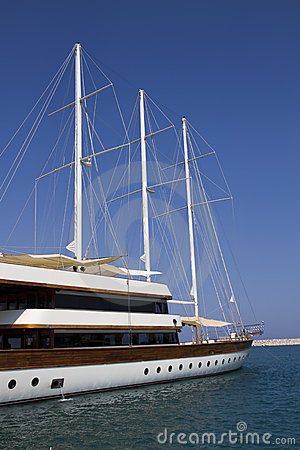 Luxury sailing yacht