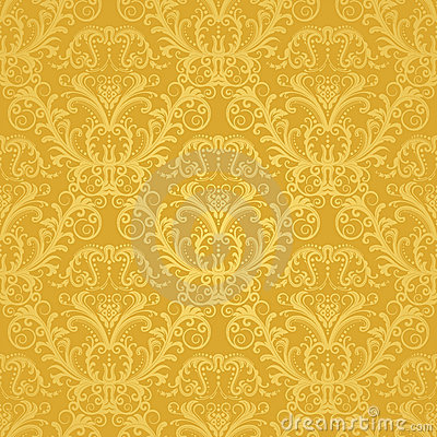 Free Luxury Seamless Golden Floral Wallpaper Royalty Free Stock Image - 18150896