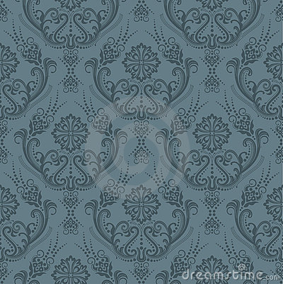 Free Luxury Seamless Grey Floral Wallpaper Royalty Free Stock Photography - 15008707