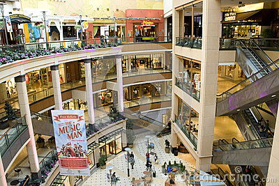Luxury shopping mall Editorial Stock Image