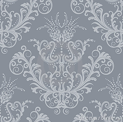 Free Luxury Silver Floral Vintage Wallpaper Stock Photos - 17709613