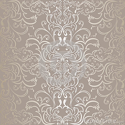 Luxury silver seamless Pattern.