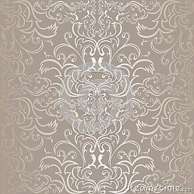 Luxury silver seamless Pattern.