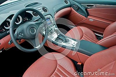 Luxury sport car interior