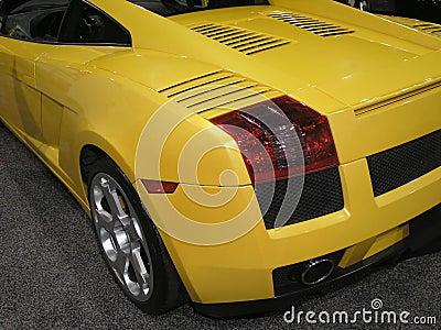 Luxury Sports Car back 1