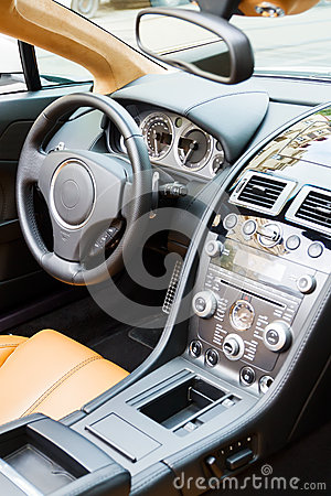 Luxury sports car interior