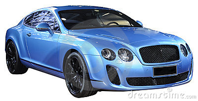 Luxury sports car isolated