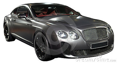 Luxury sports coupe isolated