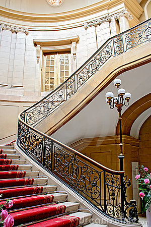 Luxury stairwell.