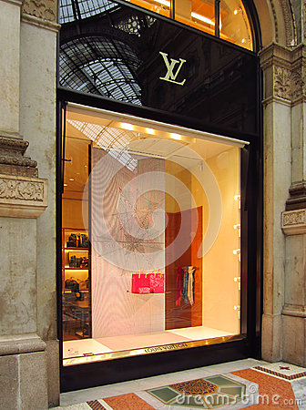 Luxury Store in Milan Editorial Stock Photo