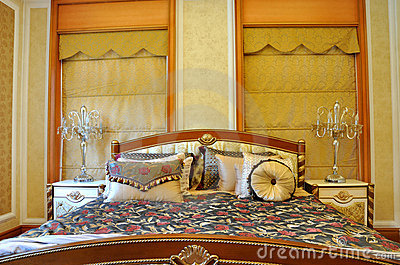 Luxury style bedding and room