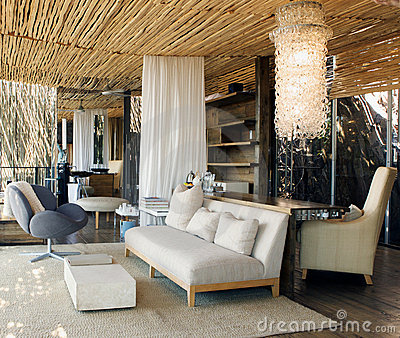 Luxury suite in African lodge