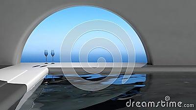Luxury swimming pool interior