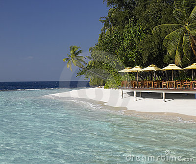 Luxury tropical beach resort in the Maldives