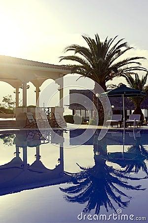 Luxury tropical resort