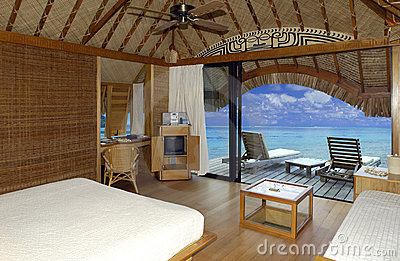 Luxury Tropical Vacation Resort - Bora Bora Editorial Stock Image