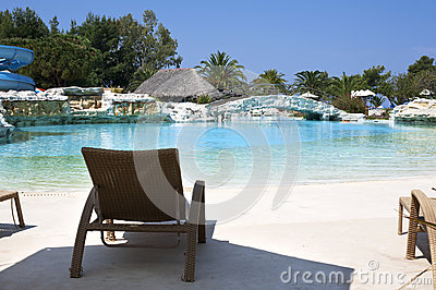 Luxury vacation resort pool area