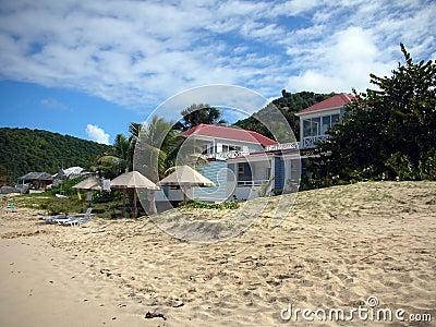 Luxury villa on the beach of Saint Barth