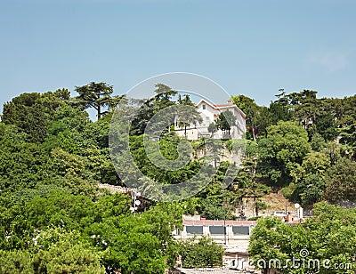Luxury villas on a hillside