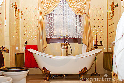 Luxury vintage bathroom interior