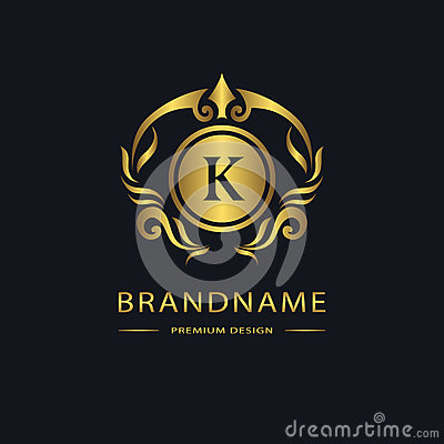 Free Luxury Vintage Logo. Business Sign, Label. Gold Letter Emblem K For Badge, Crest, Restaurant, Royalty, Boutique Brand, Hotel, Royalty Free Stock Image - 70935226