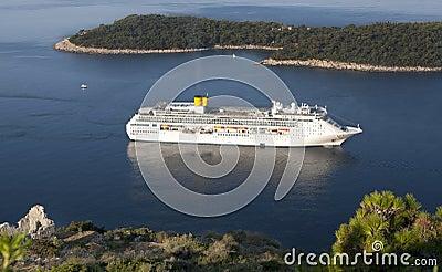 Luxury white cruise ship Editorial Photo
