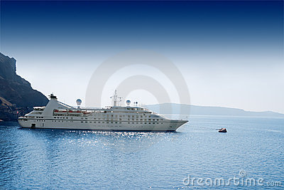 Luxury white cruise ship