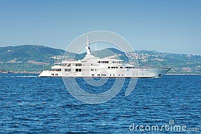 Luxury white yatch
