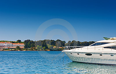 Luxury Yacht on Adriatic sea