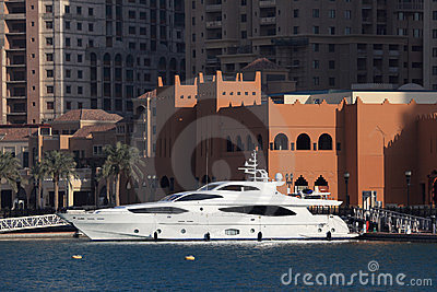 Luxury yacht in Doha Qatar