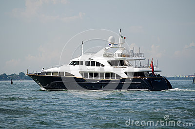 Luxury Yacht Sea BlueZ sailing the Venice Lagoon Editorial Image