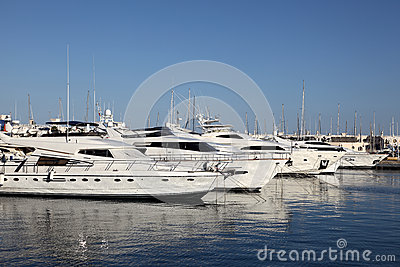 Luxury yachts in Alicante, Spain