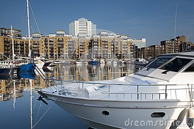 Luxury yachts moored at St Katherine Docks, London Editorial Photo