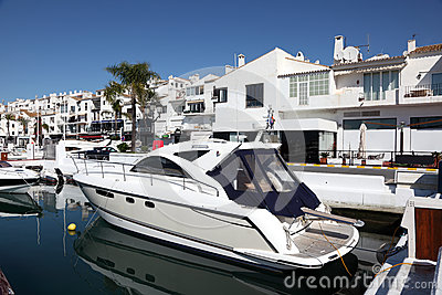 Luxury yachts in Puerto Banus, Spain