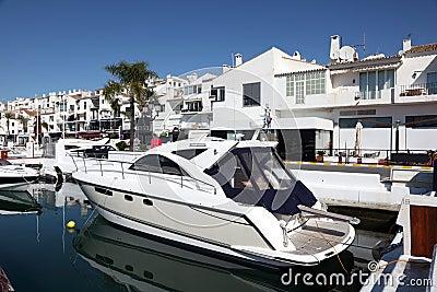 Luxury yachts in Puerto Banus, Spain