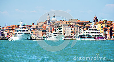 Luxury Yachts in Venice Editorial Photography