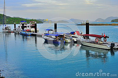 Luxury yatch and boats in Langkawi Island