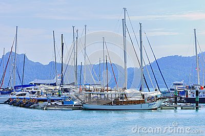 Luxury yatch in Langkawi Island Editorial Stock Photo